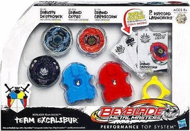 Beyblades Team Excalibur Pack Set [Gravity Destroyer, Grand Cetus & Grand Capricorn]