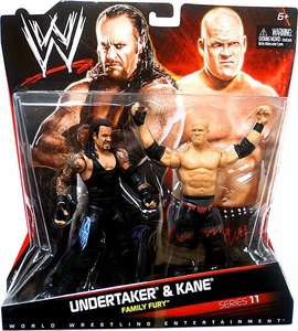 Mattel WWE Wrestling Basic Series 11 Action Figure 2-Pack Undertaker & Kane [Family Fury] BLOWOUT SALE!