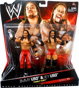 Mattel WWE Wrestling Basic Series 11 Action Figure 2-Pack Jimmy Uso & Jey Uso [Family Fury]