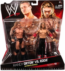 Mattel WWE Wrestling Basic Series 10 Action Figure 2-Pack Edge & Randy Orton [Ultimate Rivals]