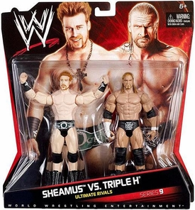 Mattel WWE Wrestling Basic Series 9 Action Figure 2-Pack Sheamus & Triple H [Ultimate Rivals] BLOWOUT SALE!