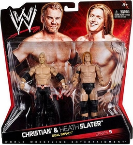 Mattel WWE Wrestling Basic Series 9 Action Figure 2-Pack Christian & Heath Slater [Dual Impact]