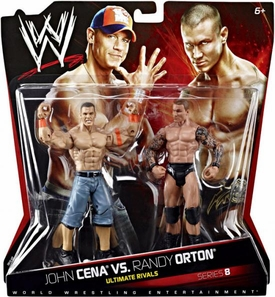 Mattel WWE Wrestling Basic Series 8 Action Figure 2-Pack Randy Orton & John Cena  [Ultimate Rivals] BLOWOUT SALE!