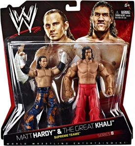Mattel WWE Wrestling Basic Series 8 Action Figure 2-Pack Matt Hardy & Great Khali [Supreme Teams] Damaged Package, Mint Contents