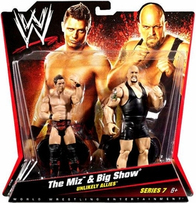 Mattel WWE Wrestling Basic Series 7 Action Figure 2-Pack The Miz & Big Show [Unlikely Allies]