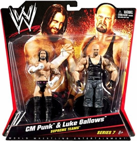 Mattel WWE Wrestling Basic Series 7 Action Figure 2-Pack CM Punk & Luke Gallows [Supreme Teams] Best in the World!