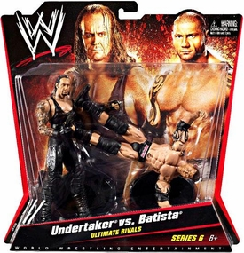 Mattel WWE Wrestling Basic Series 6 Action Figure 2-Pack Undertaker & Batista [Ultimate Rivals]