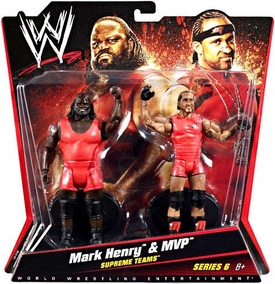 Mattel WWE Wrestling Basic Series 6 Action Figure 2-Pack MVP & Mark Henry [Supreme Teams]
