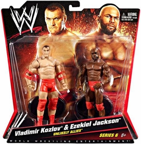 Mattel WWE Wrestling Basic Series 6 Action Figure 2-Pack Vladimir Kozlov & Ezekiel Jackson [Unlikely Allies]