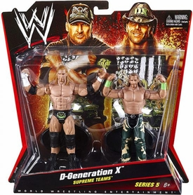 Mattel WWE Wrestling Basic Series 5 Action Figure 2-Pack D-Generation X [DX] Triple H & Shawn Michaels [Supreme Teams] BLOWOUT SALE!