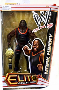 Mattel WWE Wrestling Elite Series 15 Action Figure Mark Henry [World Heavyweight Championship Belt!]