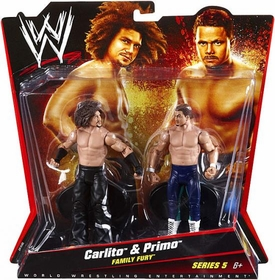 Mattel WWE Wrestling Basic Series 5 Action Figure 2-Pack Carlito & Primo [Family Fury]
