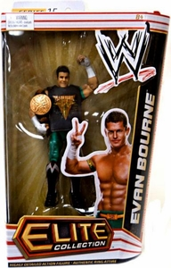 Mattel WWE Wrestling Elite Series 15 Action Figure Evan Bourne [Tag Team Championship Belt & Fly Air Bourne Sleeveless Shirt!]