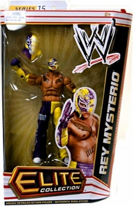 Mattel WWE Wrestling Elite Series 15 Action Figure Rey Mysterio [Entrance Hood!] BLOWOUT SALE!