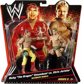 Mattel WWE Wrestling Basic Series 5 Action Figure 2-Pack Ricky the Dragon Steamboat & Chris Jericho [Ultimate Rivals] BLOWOUT SALE!