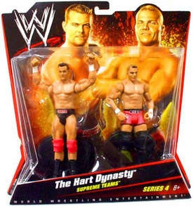 Mattel WWE Wrestling Basic Series 4 Action Figure 2-Pack Tyson Kidd & DH Smith {Hart Dynasty} [Supreme Teams]