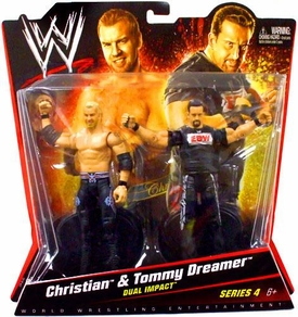 Mattel WWE Wrestling Basic Series 4 Action Figure 2-Pack Christian & Tommy Dreamer [Dual Impact]