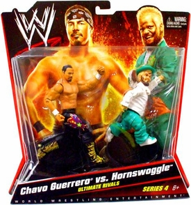 Mattel WWE Wrestling Basic Series 4 Action Figure 2-Pack Chavo Guerrero & Hornswoggle [Ultimate Rivals]