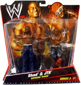 Mattel WWE Wrestling Basic Series 3 Action Figure 2-Pack Shad & JTG {Cryme Tyme} [Supreme Teams]