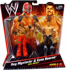 Mattel WWE Wrestling Basic Series 3 Action Figure 2-Pack Rey Mysterio & Evan Bourne [Dual Impact] BLOWOUT SALE!