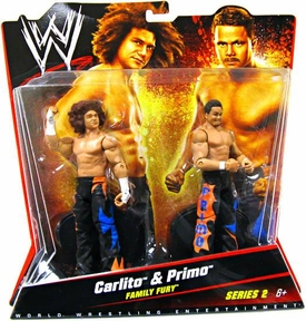 Mattel WWE Wrestling Basic Series 2 Action Figure 2-Pack Carlito & Primo [Family Fury]