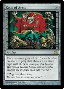 Magic the Gathering Tenth Edition Single Card Rare #316 Coat of Arms
