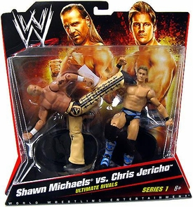Mattel WWE Wrestling Basic Series 1 Action Figure 2-Pack Shawn Michaels vs. Chris Jericho [Ultimate Rivals]