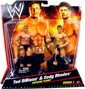 Mattel WWE Wrestling Basic Series 1 Action Figure 2-Pack Ted DiBiase & Cody Rhodes [Supreme Teams]