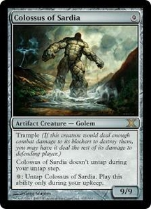 Magic the Gathering Tenth Edition Single Card Rare #317 Colossus of Sardia