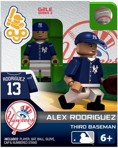 OYO Baseball MLB Generation 2 Building Brick Minifigure Alex Rodriguez [New York Yankees]