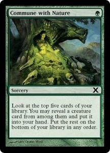 Magic the Gathering Tenth Edition Single Card Common #256 Commune with Nature
