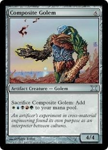 Magic the Gathering Tenth Edition Single Card Uncommon #318 Composite Golem