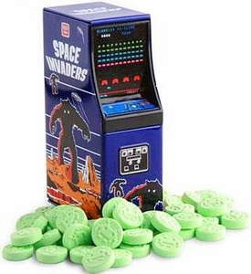 Space Invaders Sour Apple Alien Candy Tin ArcadeCabinet