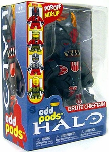 Halo 3 McFarlane Toys Odd Pods Series 1 Stylized Figure Brute Chieftain [Gravity Hammer] COLLECTOR'S CHOICE!