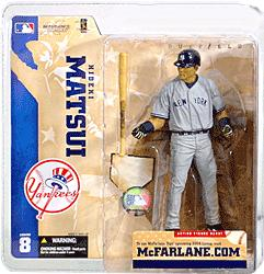 McFarlane Toys MLB Sports Picks Series 8 Action Figure Hideki Matsui (New York Yankees) Gray Jersey
