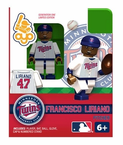 OYO Baseball MLB Building Brick Minifigure Francisco Liriano [Minnesota Twins]