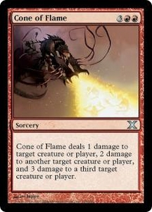 Magic the Gathering Tenth Edition Single Card Uncommon #194 Cone of Flame