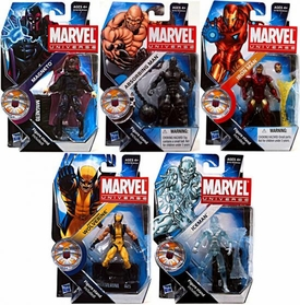 Marvel Universe 3 3/4 Inch Series 16 Set of 5 Action Figures [Absorbing Man, Iceman, Magneto, Wolverine & Tony Stark Iron Man]