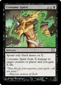 Magic the Gathering Tenth Edition Single Card Uncommon #131 Consume Spirit