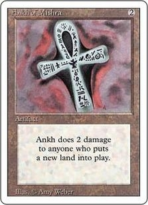 Magic the Gathering Revised Edition Single Card Rare Ankh of Mishra