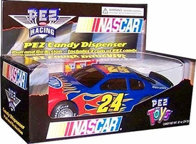 Nascar Pez Candy Racing Jeff Gordon #24 Pez Candy Dispenser Slightly Worn Packaging; MINT Contents!
