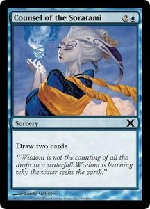 Magic the Gathering Tenth Edition Single Card Common #76 Counsel of the Soratami