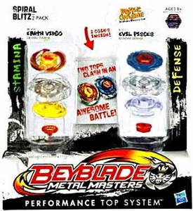 Beyblades Metal Masters Attack & Attack 2-Pack Spiral Blitz [Earth Virgo vs. Evil Pisces]