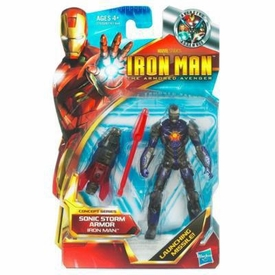 Iron Man 2 Concept 4 Inch Action Figure #45 Iron Man [Sonic Storm Armor]