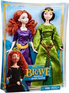 Disney / Pixar BRAVE Movie Doll Figure 2-Pack Merida & Queen Elinor