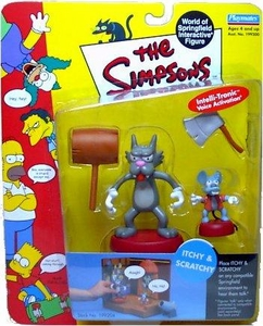 The Simpsons Series 4 Playmates Action Figure Itchy and Scratchy