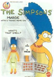 The Simpsons 1990 Mattel Action Figure Marge (Non-Mint)