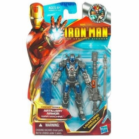 Iron Man 2 Movie 4 Inch Action Figure #02 Artillery Armor War Machine