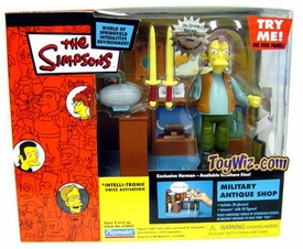 The Simpsons Series 13 Action Figure Playset Military Antique Shop with Herman