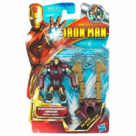 Iron Man 2 Concept 4 Inch Action Figure #05 Subterranean Armor Iron Man